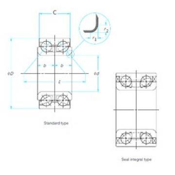 35 mm x 77 mm x 42 mm  NACHI 35BVV07-9G roulements à billes à contact oblique