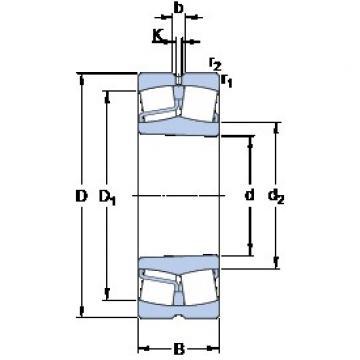 90 mm x 190 mm x 64 mm  SKF 22318 EKJA/VA405 roulements à rouleaux sphériques