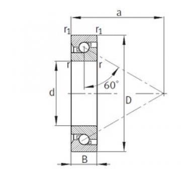 95 mm x 170 mm x 32 mm  FAG 7602095-TVP butées à billes