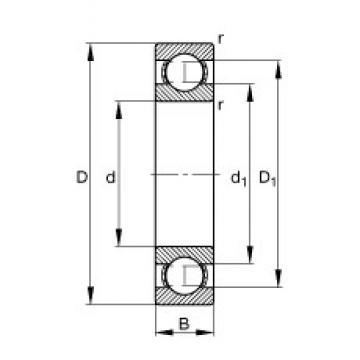 260 mm x 480 mm x 80 mm  FAG 6252-M roulements rigides à billes
