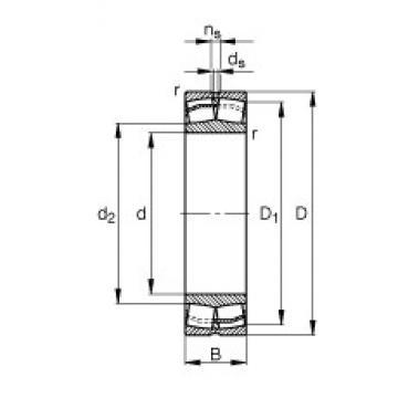 130 mm x 200 mm x 52 mm  FAG 23026-E1-TVPB roulements à rouleaux sphériques