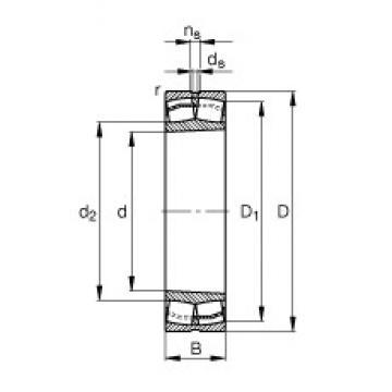 100 mm x 215 mm x 47 mm  FAG 21320-E1-K-TVPB roulements à rouleaux sphériques