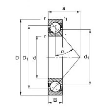 15 mm x 35 mm x 11 mm  FAG 7202-B-JP roulements à billes à contact oblique