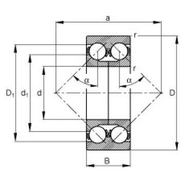 65 mm x 140 mm x 58,7 mm  FAG 3313-DA roulements à billes à contact oblique
