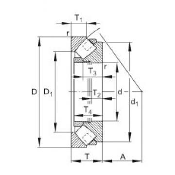FAG 293/500-E-MB roulements à rouleaux de poussée