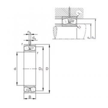 400 mm x 600 mm x 200 mm  FAG 24080-E1A-MB1 roulements à rouleaux sphériques