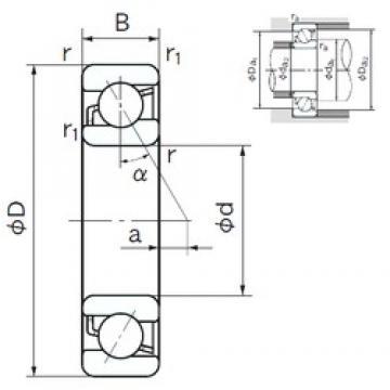 100 mm x 180 mm x 34 mm  NACHI 7220B roulements à billes à contact oblique