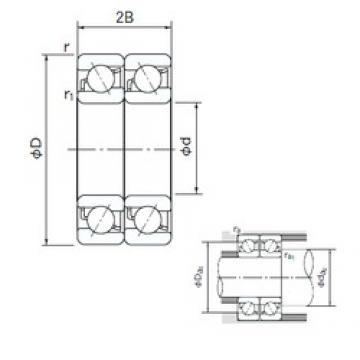 20 mm x 52 mm x 15 mm  NACHI 7304BDT roulements à billes à contact oblique