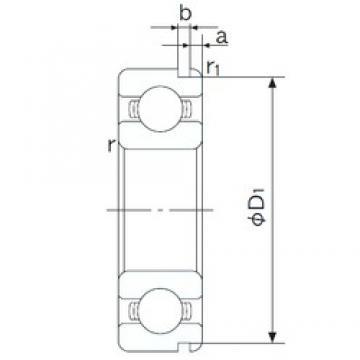 25 mm x 37 mm x 7 mm  NACHI 6805N roulements rigides à billes