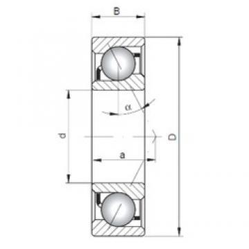 35 mm x 55 mm x 10 mm  ISO 71907 C roulements à billes à contact oblique