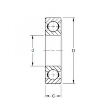 120,65 mm x 165,1 mm x 22,23 mm  Timken 47BIC216 roulements rigides à billes