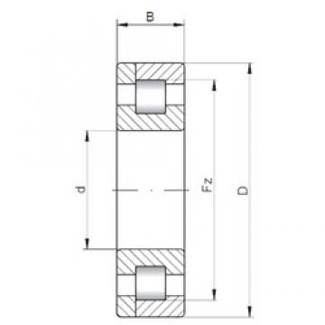 160 mm x 340 mm x 136 mm  ISO NP3332 roulements à rouleaux cylindriques