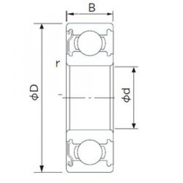 120 mm x 165 mm x 22 mm  CYSD 6924-Z roulements rigides à billes