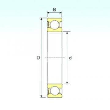 17 mm x 47 mm x 14 mm  ISB 6303-RS roulements rigides à billes