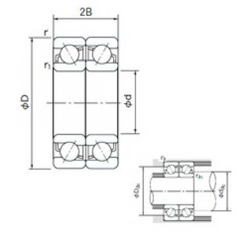 140 mm x 250 mm x 42 mm  NACHI 7228BDF roulements à billes à contact oblique