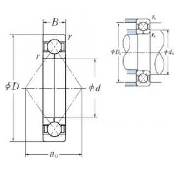50 mm x 110 mm x 27 mm  NSK QJ310 roulements à billes à contact oblique
