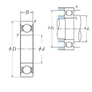 90 mm x 190 mm x 43 mm  NSK 6318 roulements rigides à billes