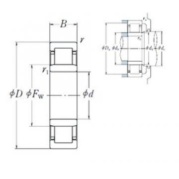 20 mm x 52 mm x 21 mm  NSK NU2304 ET roulements à rouleaux cylindriques