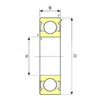35 mm x 44 mm x 5 mm  ISB 61707ZZ roulements rigides à billes