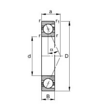 200 mm x 310 mm x 51 mm  FAG B7040-E-T-P4S roulements à billes à contact oblique