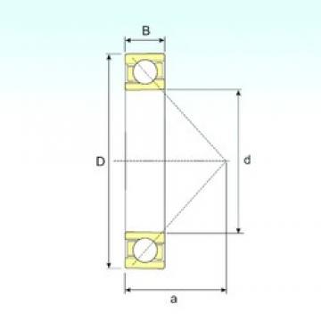 95 mm x 200 mm x 45 mm  ISB 7319 B roulements à billes à contact oblique