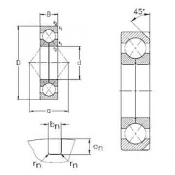 105 mm x 190 mm x 36 mm  NKE QJ221-N2-MPA roulements à billes à contact oblique