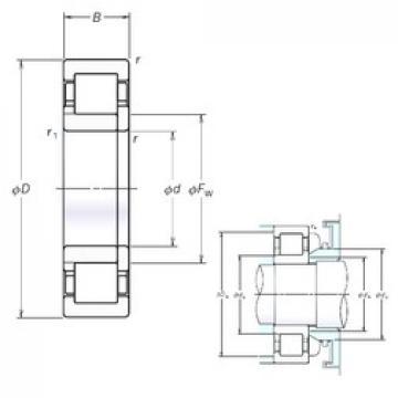 170 mm x 360 mm x 120 mm  NSK NUP2334EM roulements à rouleaux cylindriques