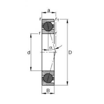 30 mm x 62 mm x 16 mm  FAG HCB7206-C-T-P4S roulements à billes à contact oblique