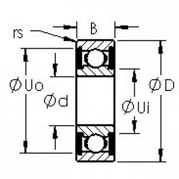 AST SR4-2RS roulements rigides à billes