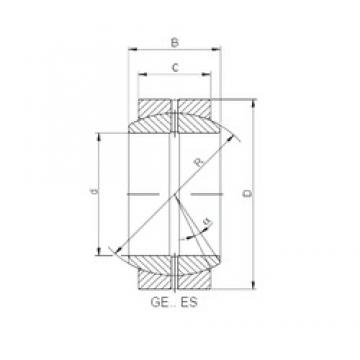 100 mm x 150 mm x 70 mm  ISO GE100DO paliers lisses