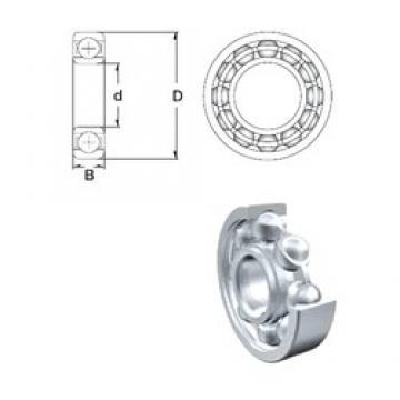 45 mm x 85 mm x 19 mm  ZEN S6209 roulements rigides à billes