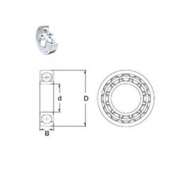 15 mm x 42 mm x 13 mm  ZEN S6302-2Z roulements rigides à billes