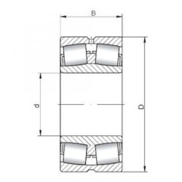 460 mm x 760 mm x 240 mm  ISO 23192W33 roulements à rouleaux sphériques