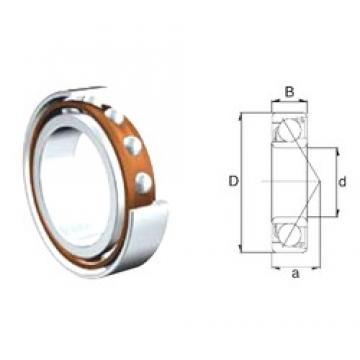 30 mm x 62 mm x 16 mm  ZEN S7206B roulements à billes à contact oblique