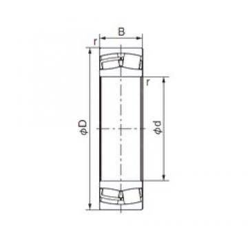 55 mm x 120 mm x 43 mm  NACHI 22311EX roulements à rouleaux cylindriques
