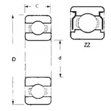 50 mm x 72 mm x 12 mm  FBJ 6910ZZ roulements rigides à billes