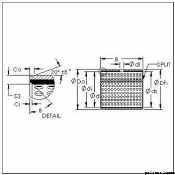 250 mm x 255 mm x 100 mm  SKF PCM 250255100 M paliers lisses