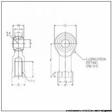 AST CF14 roulements à aiguilles