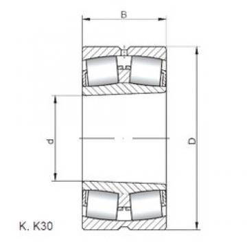 130 mm x 210 mm x 64 mm  ISO 23126 KW33 roulements à rouleaux sphériques
