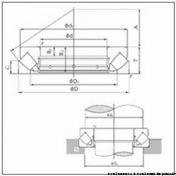 100 mm x 140 mm x 16 mm  ISB RE 10016 roulements à rouleaux de poussée