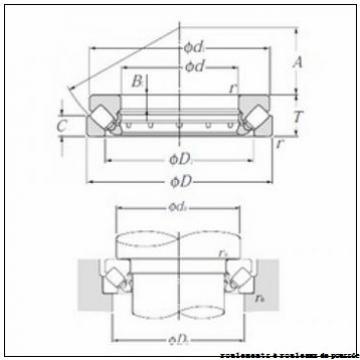 90 mm x 190 mm x 20 mm  SKF 89418M roulements à rouleaux de poussée