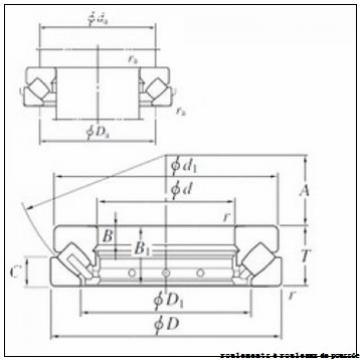 80 mm x 115 mm x 8,5 mm  NBS 81216TN roulements à rouleaux de poussée
