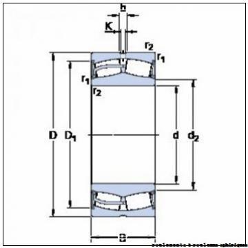 530 mm x 710 mm x 136 mm  ISO 239/530 KCW33+AH39/530 roulements à rouleaux sphériques