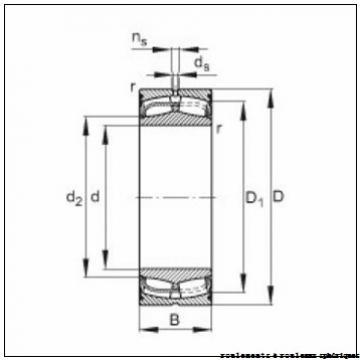 60 mm x 110 mm x 22 mm  FAG 20212-K-TVP-C3 + H212 roulements à rouleaux sphériques