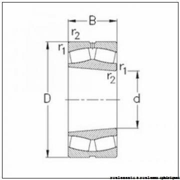 70 mm x 150 mm x 51 mm  ISO 22314 KCW33+H2314 roulements à rouleaux sphériques