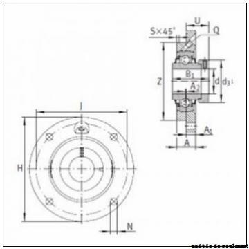 40 mm x 111 mm x 49,2 mm  ISO UCFLX08 unités de roulement