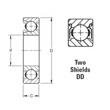 70 mm x 150 mm x 35 mm  Timken 314WDD roulements rigides à billes