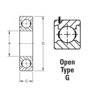 17 mm x 40 mm x 12 mm  Timken 203KG roulements rigides à billes