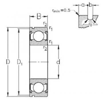 50 mm x 90 mm x 20 mm  NKE 6210-2Z-N roulements rigides à billes