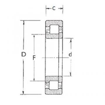 85 mm x 150 mm x 28 mm  FBJ NUP217 roulements à rouleaux cylindriques